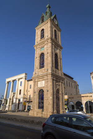 Jaffa, Israel - June 10, 2018: The Jaffa Clock Tower, one of the 5 clock towers built in Ottoman Empire period in Palestine.