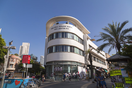 Tel Aviv-Yafo, Israel - June 9, 2018: Generic architecture and cityscape from Tel Aviv, Modern and old buildings in the central streets of Tel Aviv-Yafo, Israel. 新聞圖片