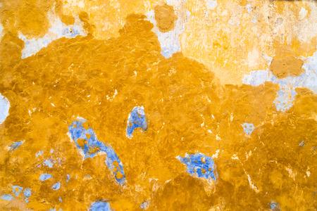 Grunge concrete wall texture background with stains and peeled layers Stock Photo
