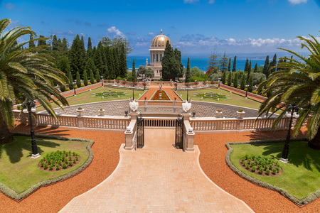 Bahai Gardens (Shrine of the Bab), a holy pilgrimage for the Bahai believers built on Mount Carmel in Haifa, Israel. Redakční