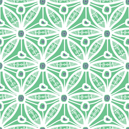 Seamless pattern design with hexagonal lace motif, modern repeat background for web and print, square composition scalable to any size. 스톡 콘텐츠 - 116845989