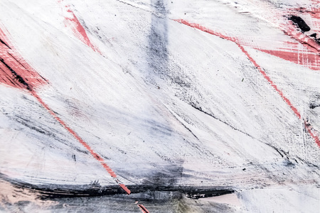 Painted canvas fragment, abstract art painting detail texture background with brushstrokes