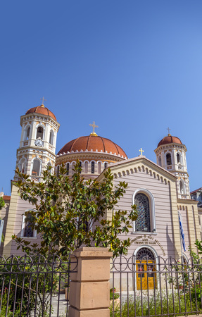 Exterior view of the church Agios Gregorios Palamas in Thessaloniki, Greece.