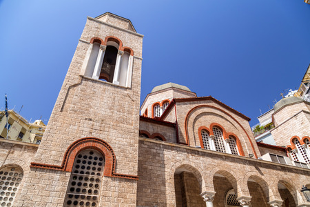 Exterior view of the church of Naos Panagia Dexia in Thessaloniki, Greece.