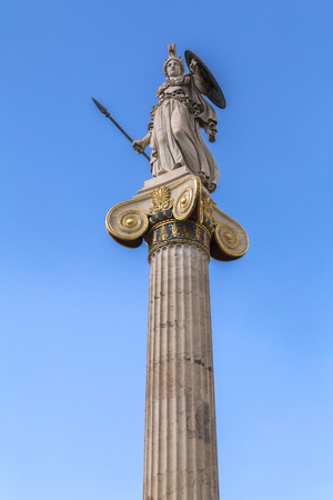 Sculpture on a column at the Academy of Athens in Athens, the Greek capital. Editöryel