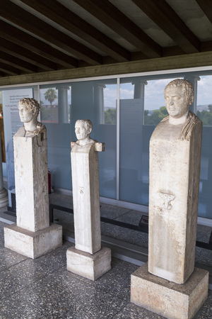 Athens, Greece - July 20, 2018: Ancient Greek sculpture Stoa of Attolos in Athens. Athens has significant remains of the ancient Greek civilization. Reklamní fotografie - 121225235