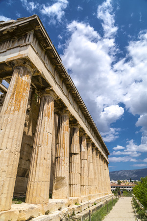 Athens , Greece - July 20, 2018: Temple of Hephaestus, the most well-preserved temple from ancient Greece, Athens. Editorial