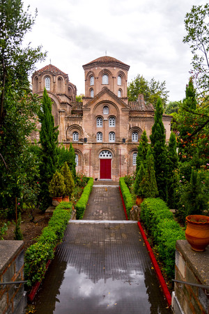 Exterior view of the Byzantince chuch of Panagia Chalkeon in Thessaloniki, Greece