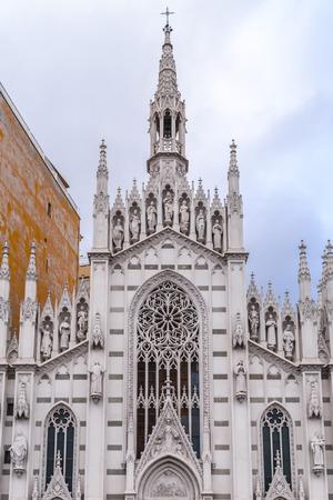 Exterior view of Chiesa del Sacro Cuore del Suffragio, the only gothic church in Prati, Rome, Italy Stock Photo