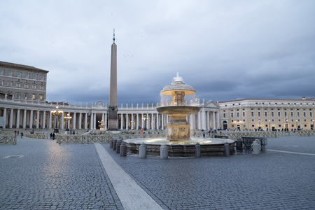 View from Vatican city, the heart of Catholic Christianity, evening scene from the St. Peter Cathedral, Italy.