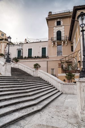 The famous and historical Spanish Steps at Piazza Spagna, Rome, Italy.