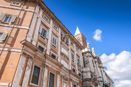 View from Piazza Dell Esquilino and Santa Maria Maggiore Basilica in Rome, Italy