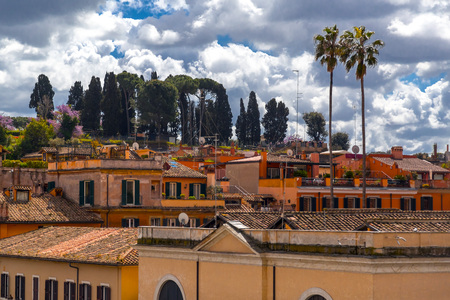 Cityscape and generic architecture from Rome, the Italian capital. Enchanting old buildings and historical streets in Rome.