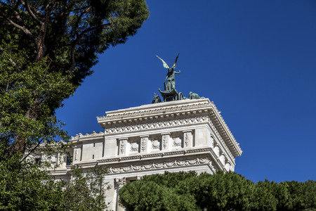 The Altar Of The Fatherland or Altare della Patria. Also known as the National Monument to Victor Emmanuel II. II Vittoriano in Rome, Italy Stok Fotoğraf