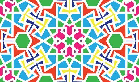 Conception de modèle sans couture abstraite avec motif géométrique de style mauresque oriental, arrière-plan répété Vecteurs