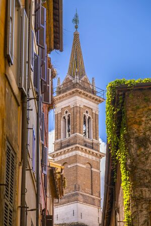 Cityscape and generic architecture from Rome, the Italian capital. Bell tower of Samta Maria della Pace church. 版權商用圖片
