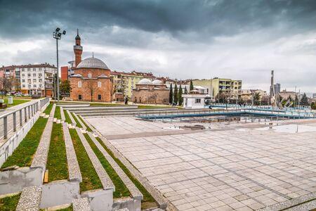 Bursa, Turkey - December 27, 2019: Kamberler Public Garden in Bursa, the 4th largest city of Turkey, located in Marmara region.