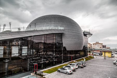 Bursa, Turkey - December 27, 2019: Exterior view of the Conquest 1326 Panorama Museum in Bursa. Located next to Goksu creek, the museum was opened in November 2018. Editorial