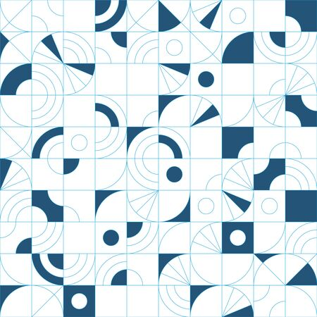 Super modern and vibrant geometric seamless pattern, repeat background for web and print