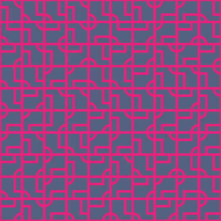 Intricate geometrical vector seamless pattern design, modern tiled repeat background for web and print