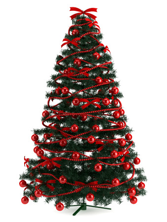 hapiness: Illustration of Christmas tree in a full length image Stock Photo