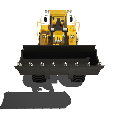 power shovel: One Loader excavator construction machinery equipment isolated
