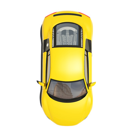 super car: Yellow Super Car Isolated on the White Background. Ready to use illustration.