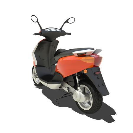 orange scooter isolated on white. photo