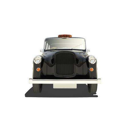 black cab: London cab isolated on white.