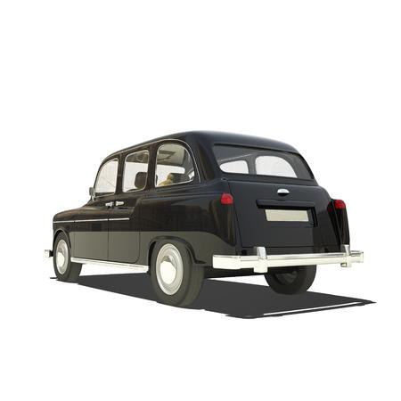 motor de carro: Casilla de Londres aislado en blanco.