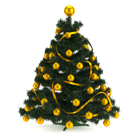 Illustration of Christmas tree in a full length image illustration