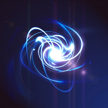 Energy abstract background on blue  版權商用圖片