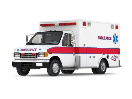 ambulances: Ambulance Isolated on White Background  Ready to use illustration