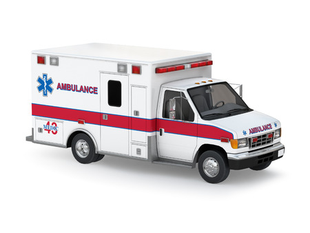 Ambulancia aislados en fondo blanco listo para usar ilustración Foto de archivo