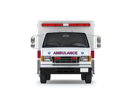 flasher: Ambulance Isolated on White Background  Ready to use illustration