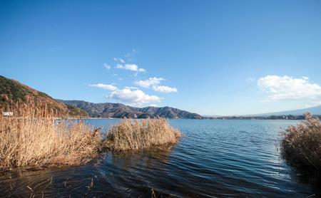 kawaguchi: Kawaguchi lake Stock Photo