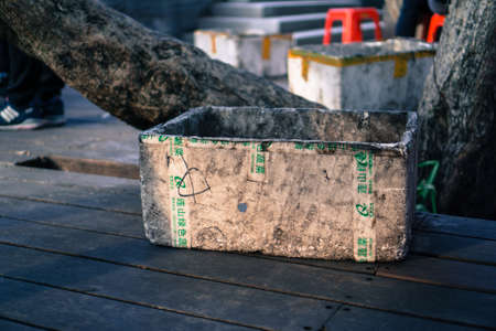 foam box: Foam box. Editorial