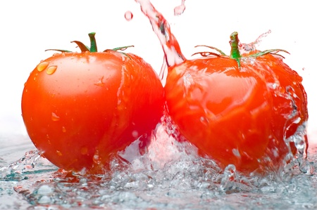 Two tomatos and Water