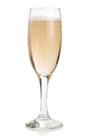 Glass of Champagne Isolated on white background