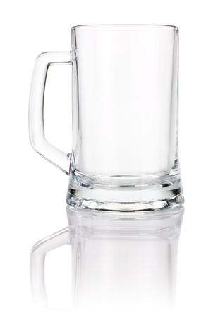 stein: Empty beer mug isolated on white background Stock Photo