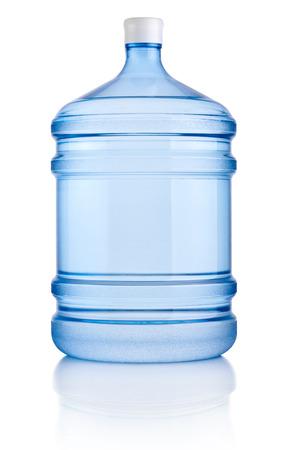 白い背景で隔離の水の大きなボトル 写真素材