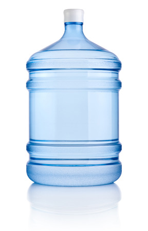 cooler: Big bottle of water isolated on a white background