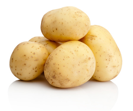 Fresh potatoes isolated on white background