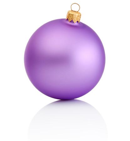 Purple christmas ball Isolated on white background Banco de Imagens