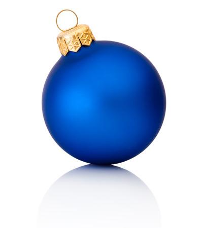 white isolate: Blue christmas ball Isolated on white background Stock Photo