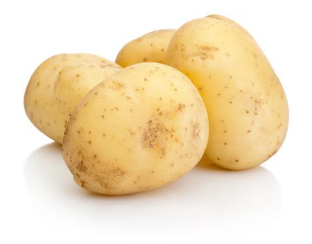 흰색 배경에 고립 된 새로운 감자