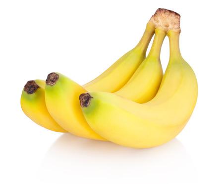 Three of bananas isolated on white background Banco de Imagens
