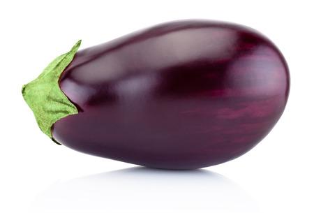 One fresh aubergine isolated on a white background Reklamní fotografie