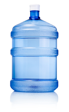 water bottles: Big bottle of drinking water isolated on a white background Stock Photo