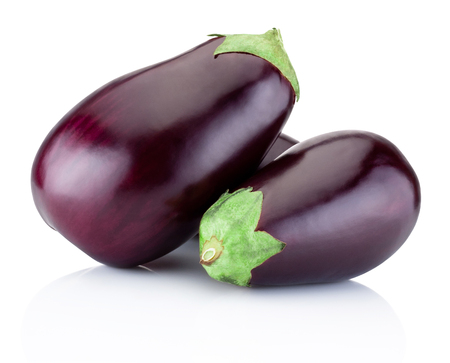brinjal: Fresh brinjal isolated on a white background Stock Photo